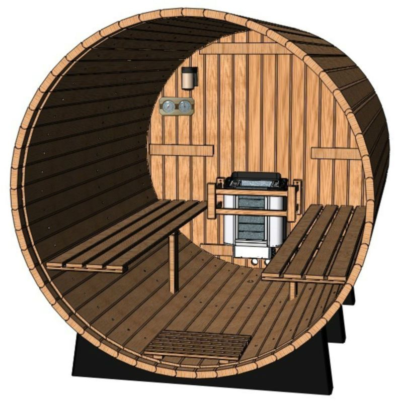 8 feet outdoor barrel saunacanadian pinefront porch