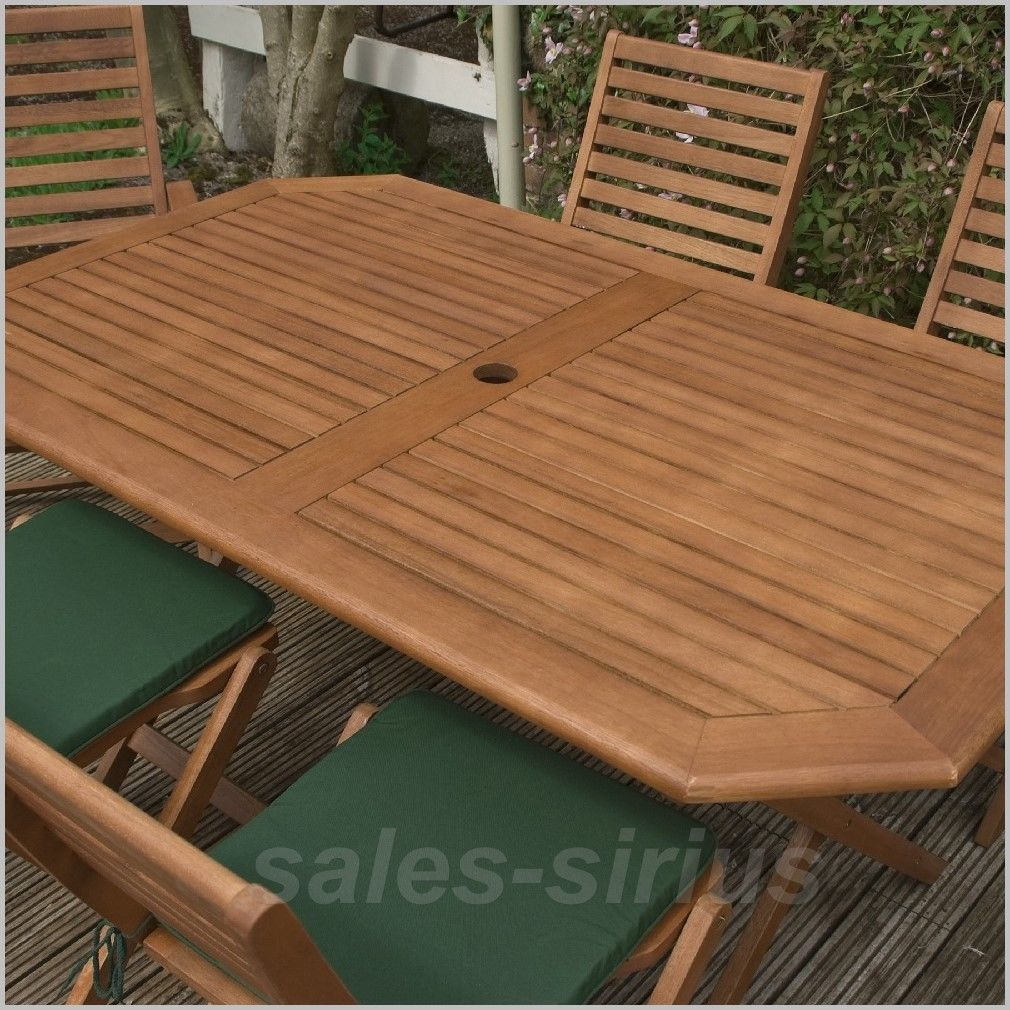 Wooden Garden Table Set 6 Seater Outdoor Dining Furniture Chairs ...