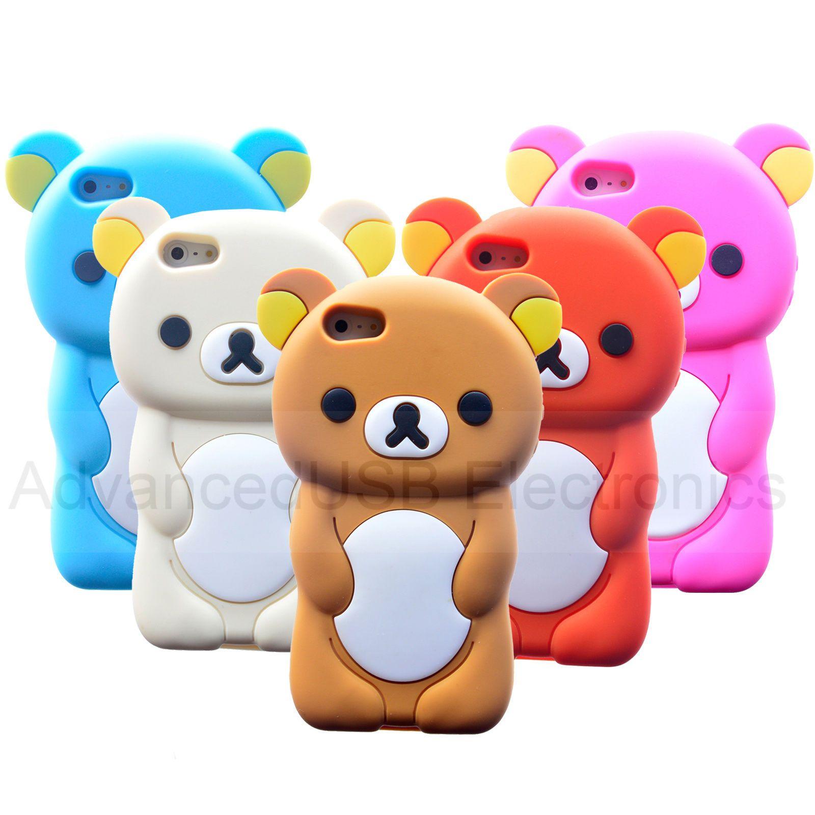 3D Rilakkuma Bear Mobile Phone Cover For Apple Iphone 5 5S 4S Soft ...