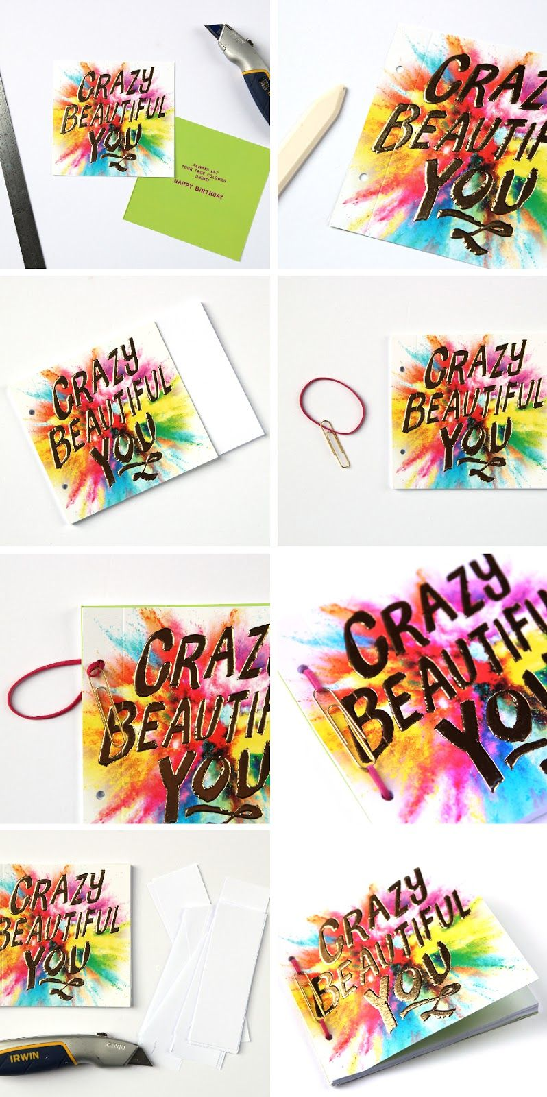 Diy paperclip trick notebook gathering beauty book