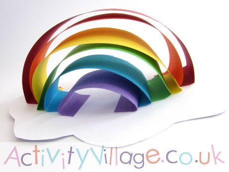 Paper Sculpture Rainbow