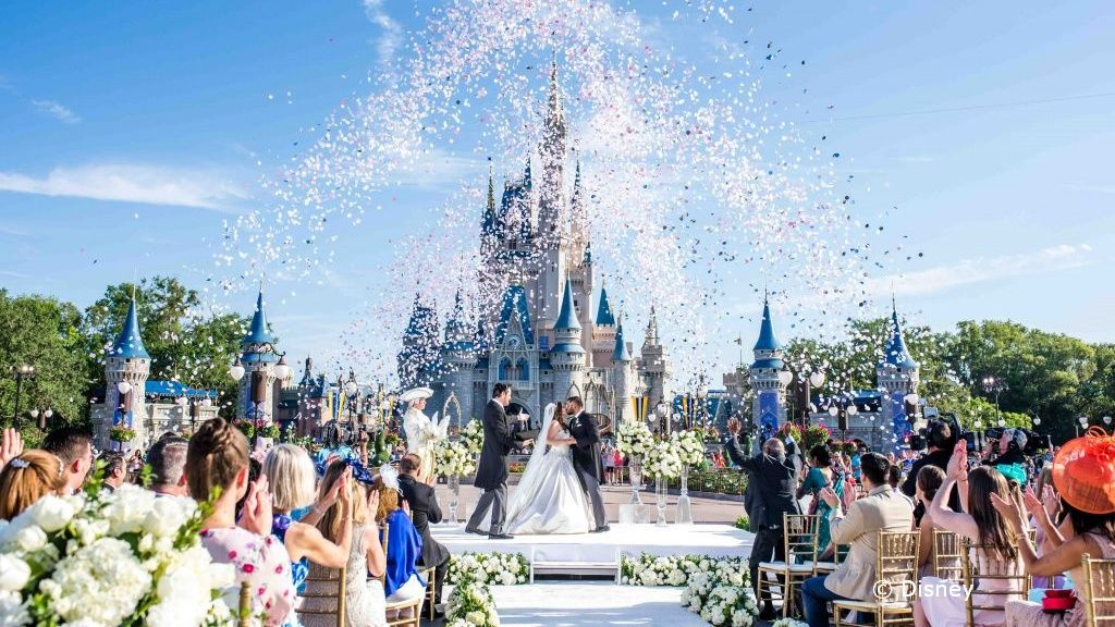 Disney S Theme Parks In Anaheim And Orlando The Disney Cruise Lines And Disney S Aulani All Offer Wed In 2020 Disney World Wedding Disney Wedding Disney Wedding Venue