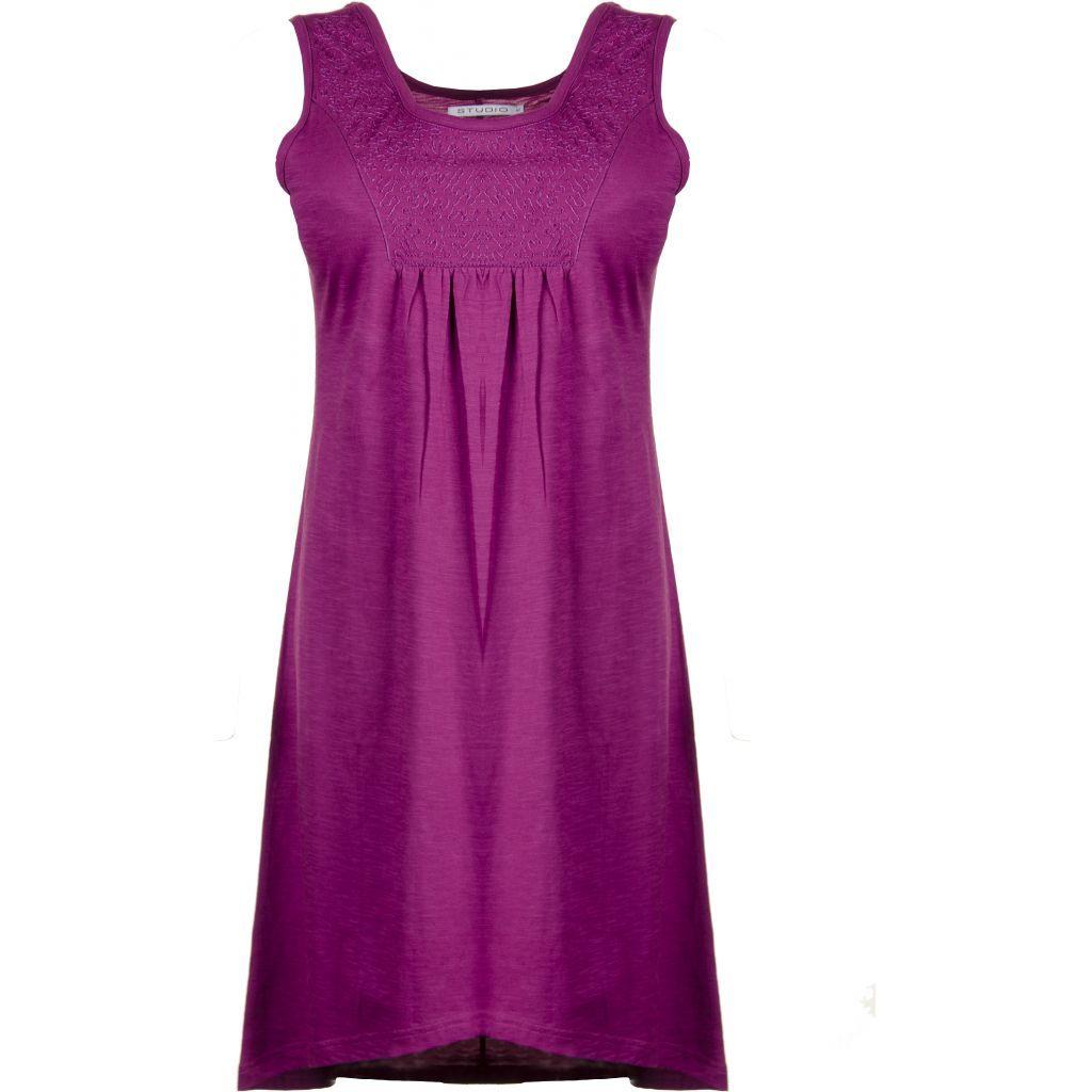Fede Blommefarvet bomulds kjole Studio Modetøj til Damer i fantastisk kvalitet