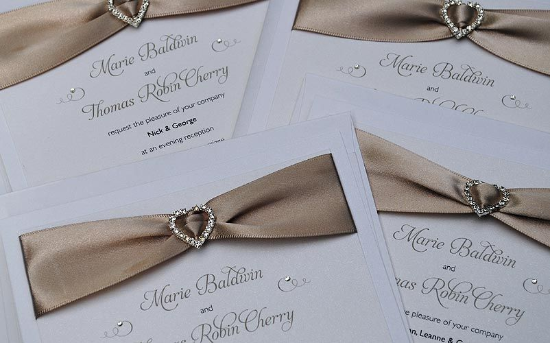 Wedding Invitations With Purple Ribbon: Satin Ribbon Wedding Invitations