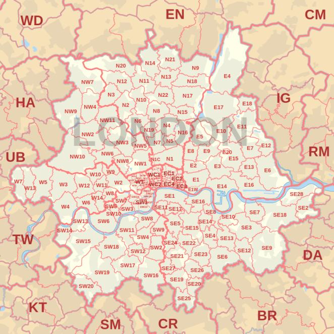 Zone Di Londra Cartina.Tutte Le Zone Di Londra Per Codice Postale Londranews Viaggi Londra Mappa Di Londra Londra