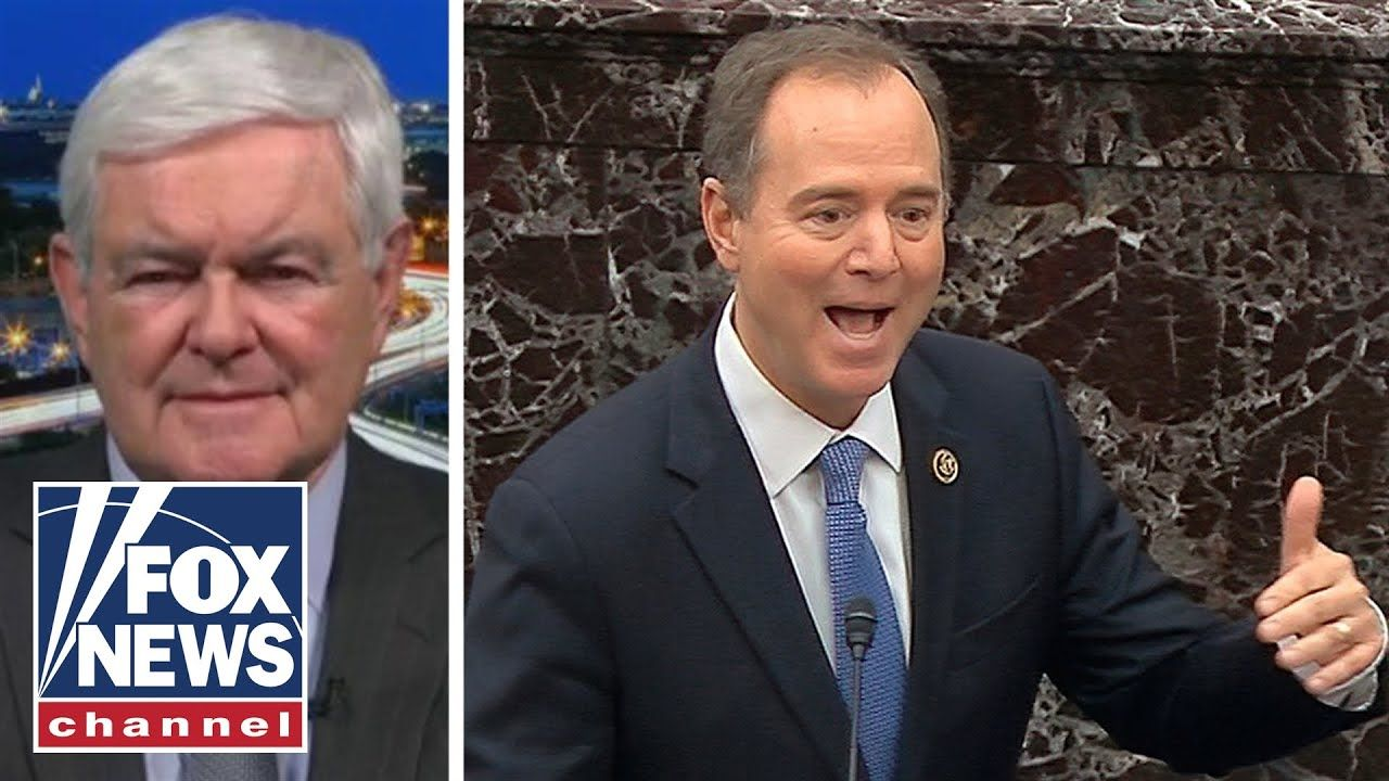 Newt Gingrich Calls Out Schiff S Lies As Deranged Youtube In 2020 Newt Gingrich Fox News Contributors Fox News Channel