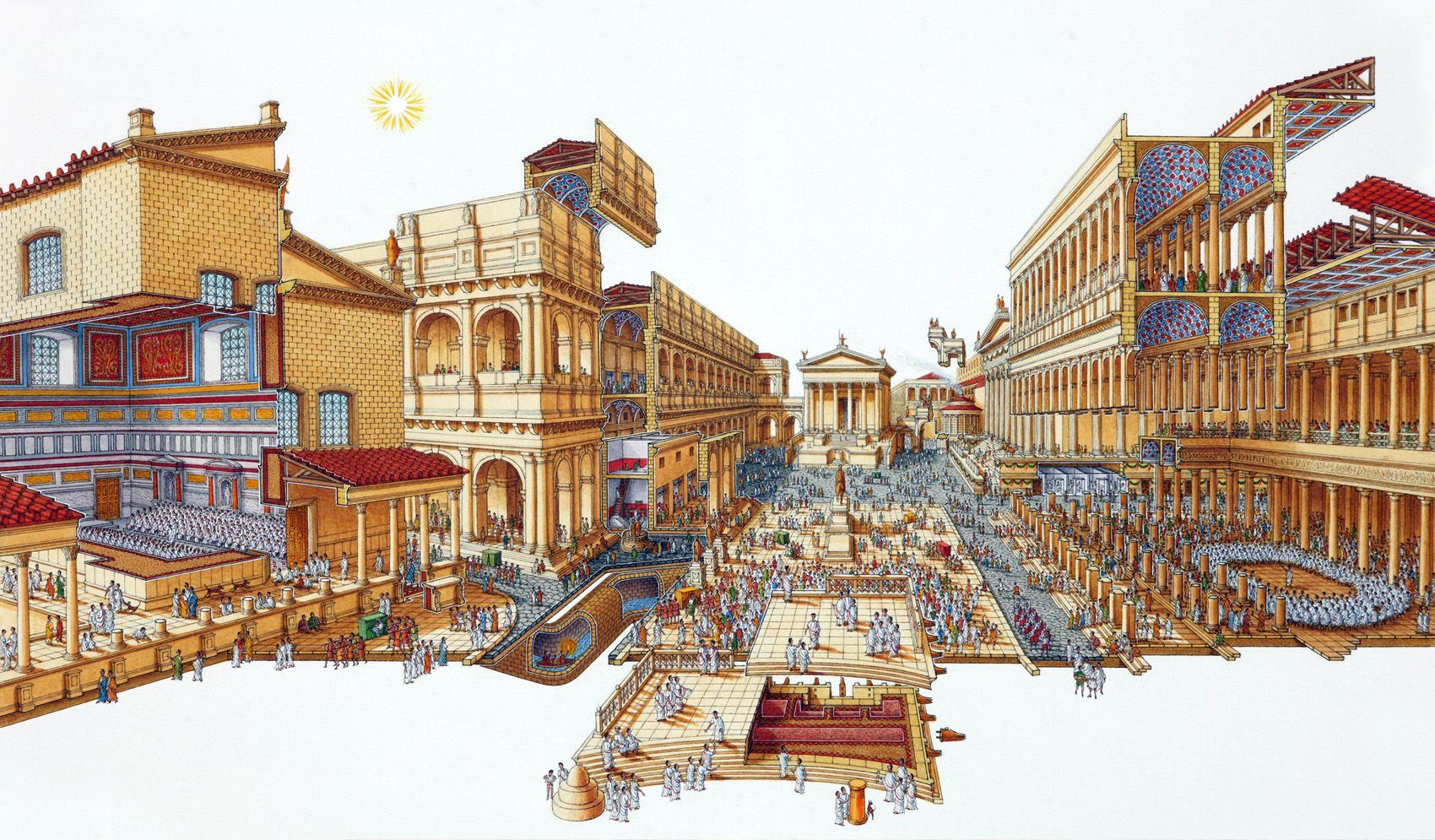 Reconstruction of the Temple of Divine Julius, Roman Forum ...