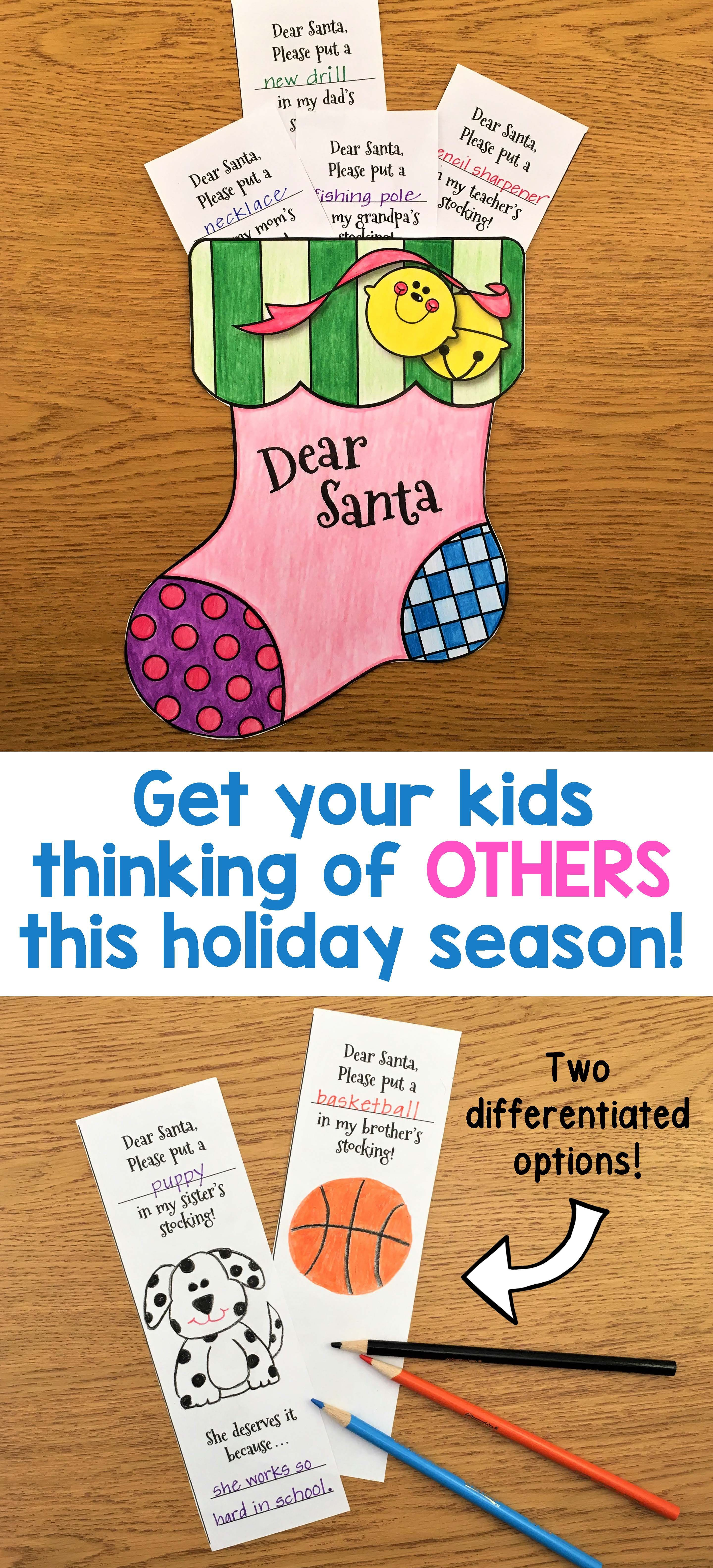 Letter To Santa  A Christmas Craftivity  Art Activities