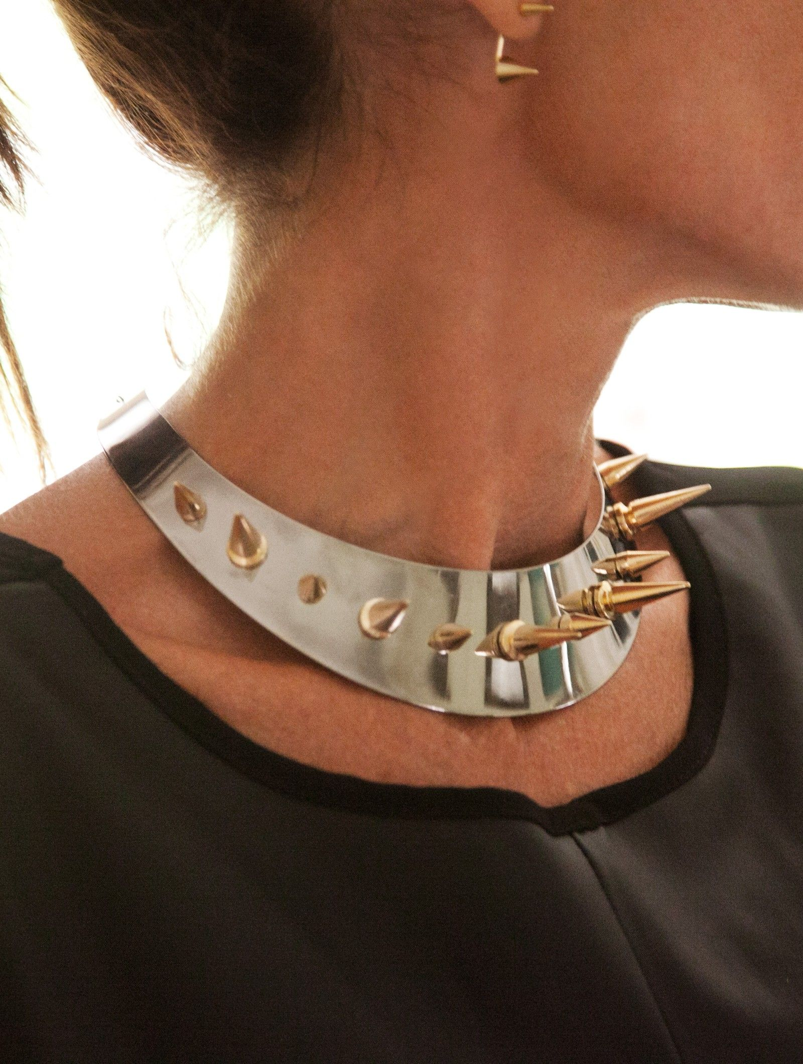 Spiked Collar Necklace by Loris Shoes TRENDS Loris Designer