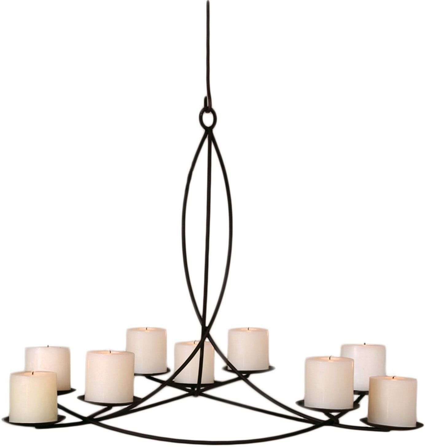 Alluring Lighting Non Electric Chandelier For Your Wrought Iron Hanging Candle