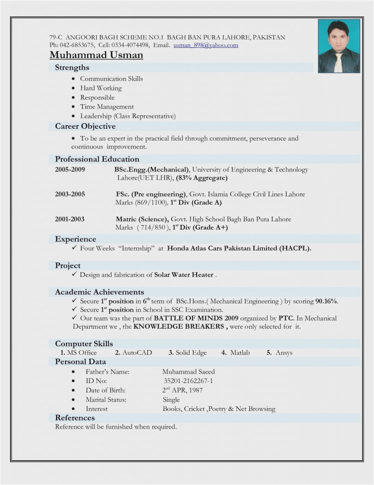 12 Engineer Resume Template Doc Engineering Resume Job Resume Format Mechanical Engineer Resume