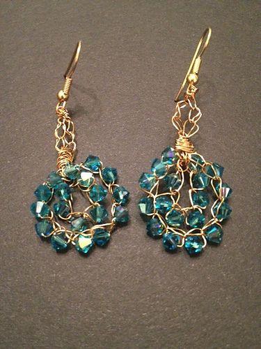 Ravelry Seven Eleven Bead Crochet Wire Earrings Free Pattern By