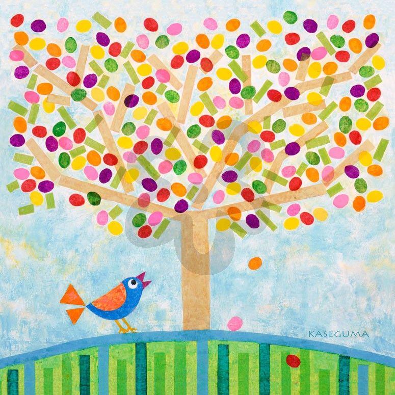Jellybean Tree - Floral Canvas Wall Art | Oopsy daisy | Mixed Media ...