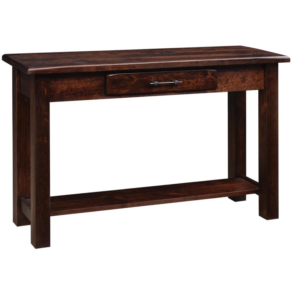 Qw Amish Barn Floor Sofa Table Quality Woods Furniture In 2020 Wood Furniture Amish Barns Sofa Table