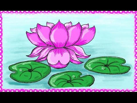 Drawing A Simple Lotus Flower How To Draw Lotus Drawing For Kids