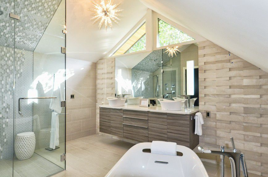 interiordesignersdenver Mountain modern bathroom in aspen