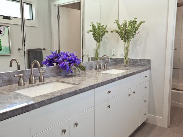 Modern Bathrooms From Stephanie Hatten On Hgtv Grey Counter White