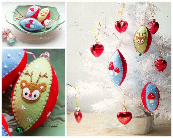 PDF Pattern. Vintage style christmas felt ornaments | фетр новый год ...