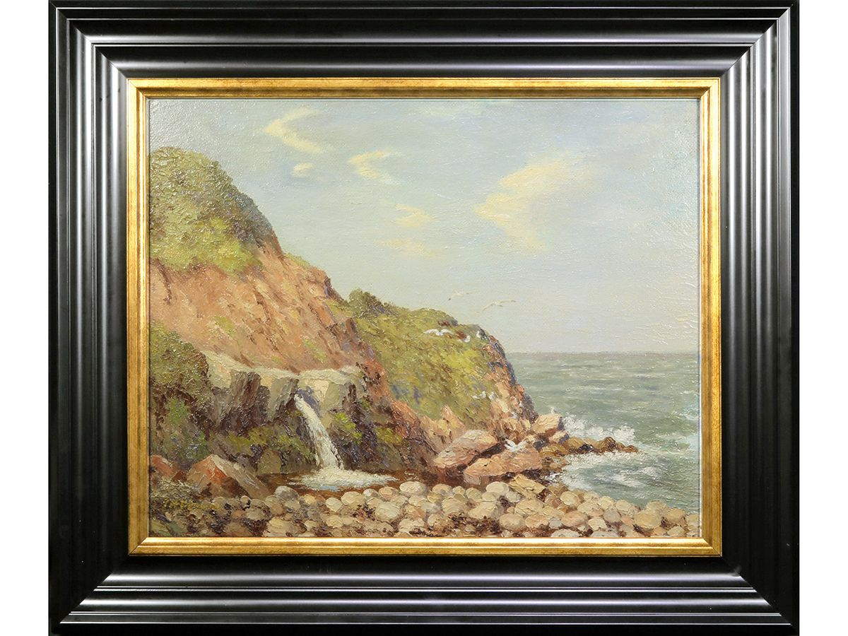 Artforsale Journey S End Hayburn Wyke North Yorkshire By J H Perrins Original Signed Framed 1950 S Oil Painting Buy Abstract Painting Art Painting