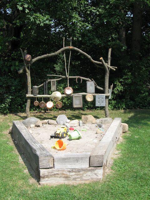 Tolle Sandkasten Idee für den Garten *** Outdoor Play Space - wasserspiel fur kinder im garten