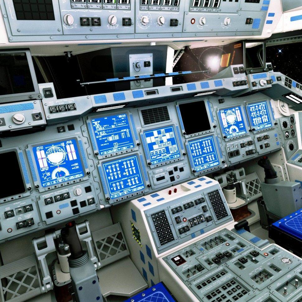 Space Shuttle Cockpit Blender 3d Concept Art Tutorial