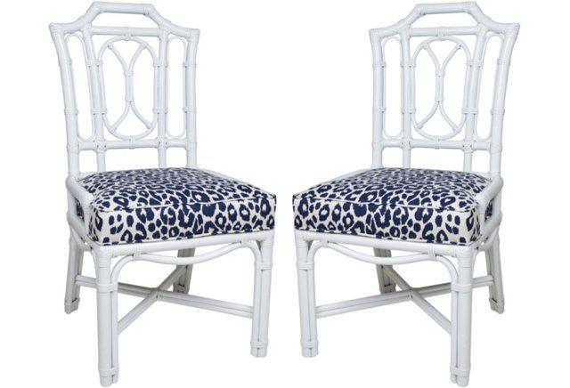 Attirant Ficks Reed Leopard Schumacher Chairs, Pr