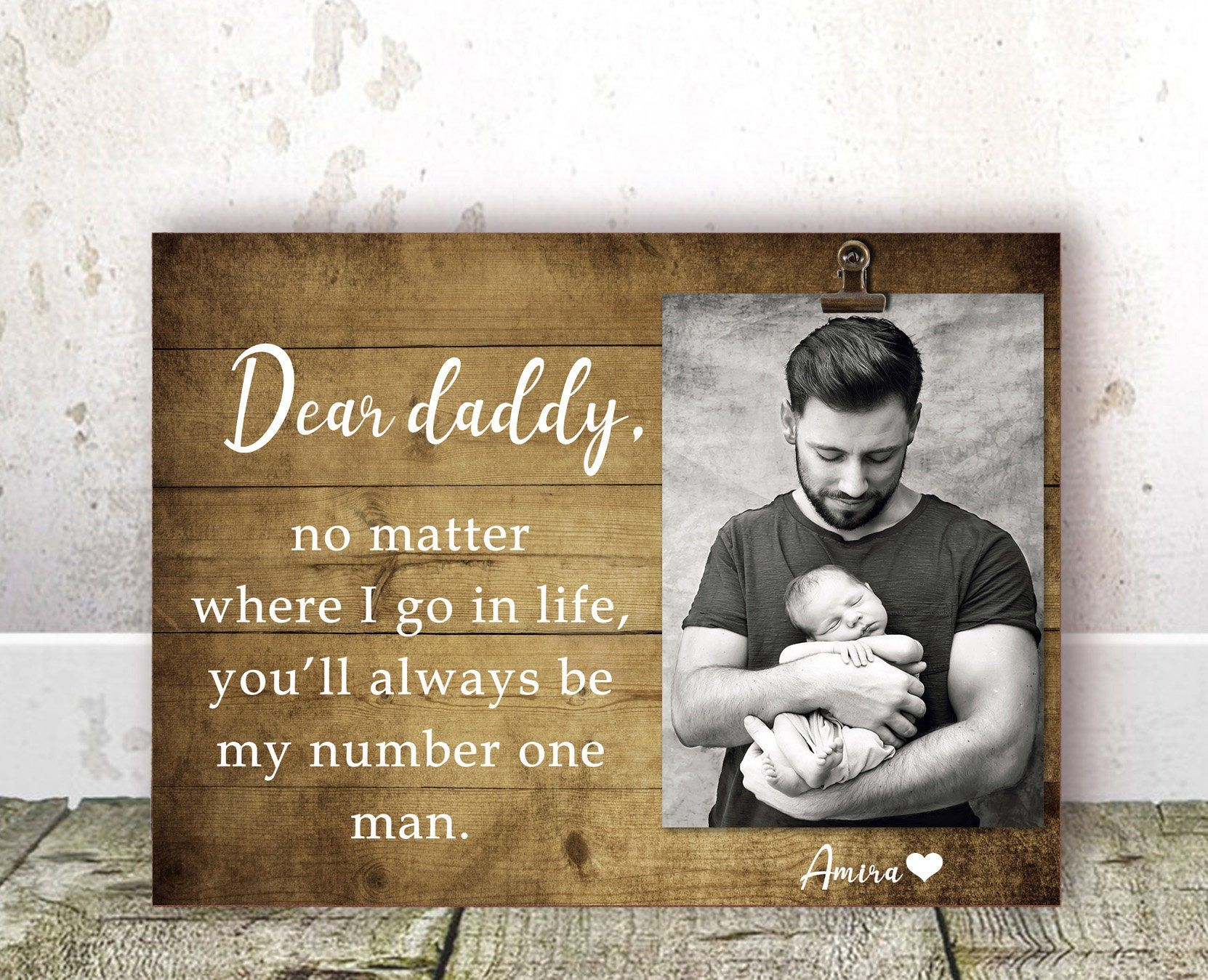 Fathers day gift for dad from daughter daddy frame dad
