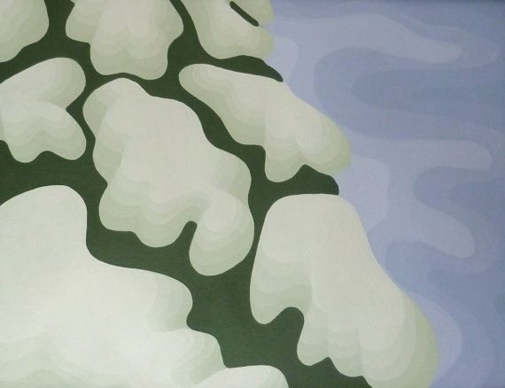 """Original abstract Snowy tree painting, Acrylic on paper with mount 10 x 12"""" 10% off with coupon code PIN10"""