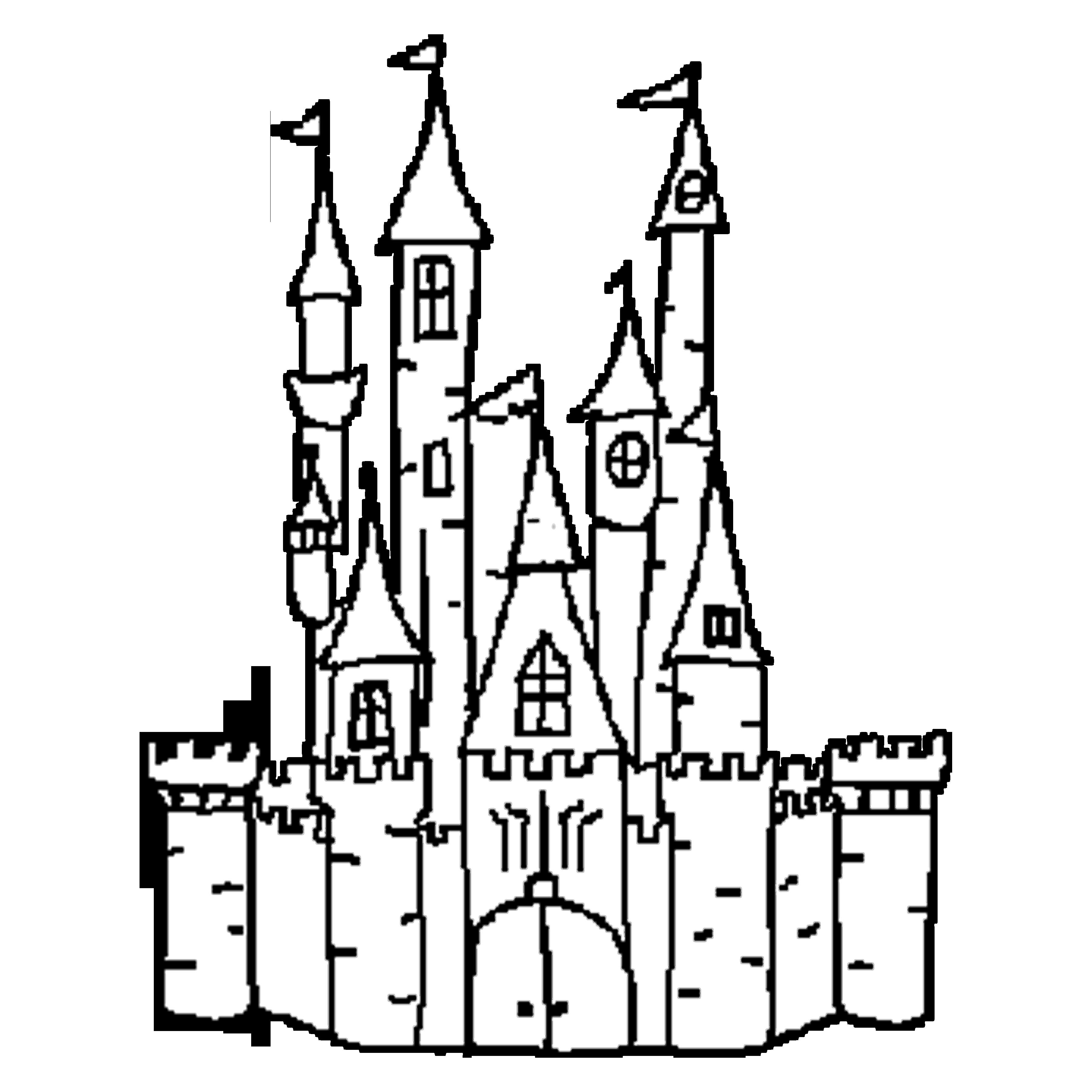 Castle Outline Free Download