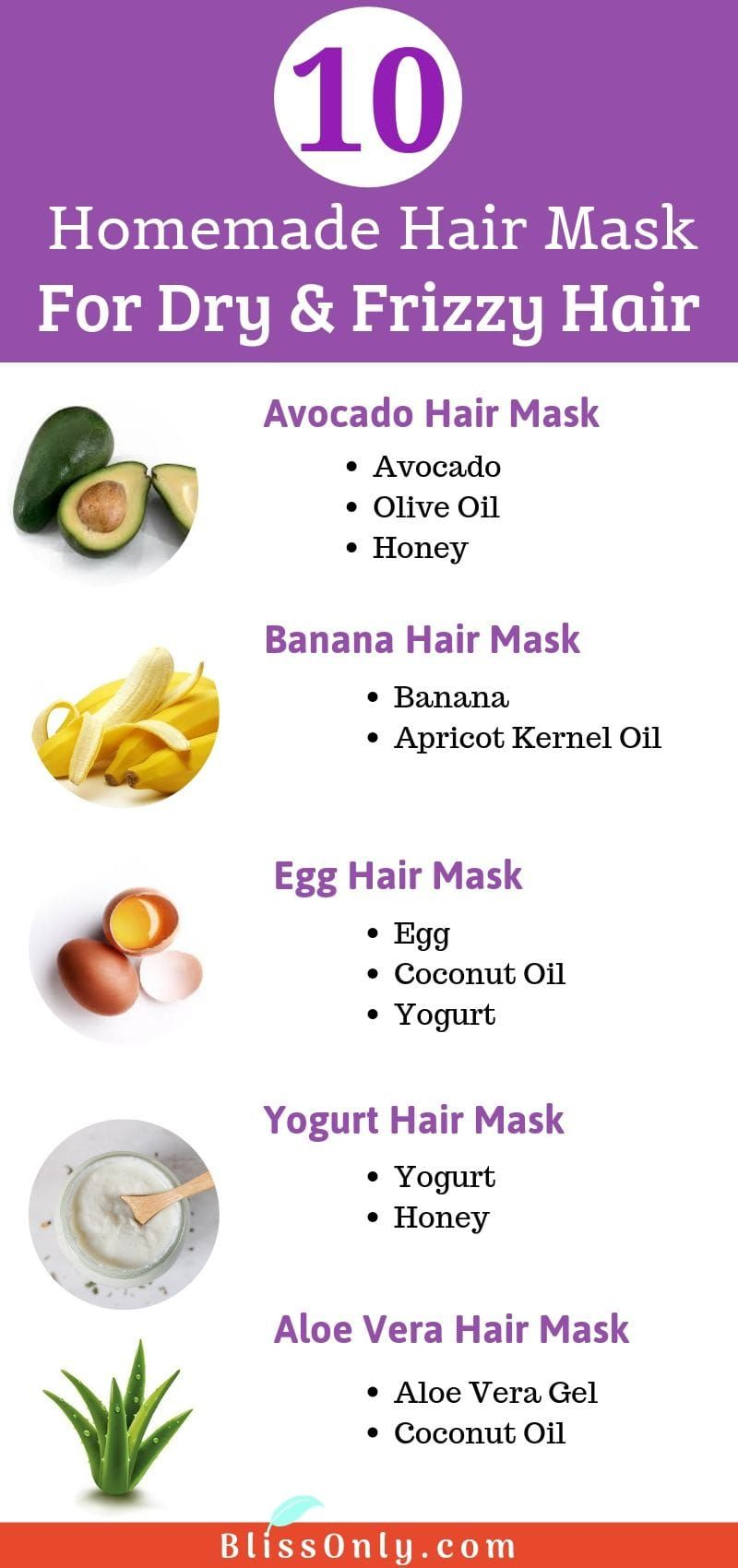 10 Homemade Hair Mask For Frizzy Hair - BlissOnly