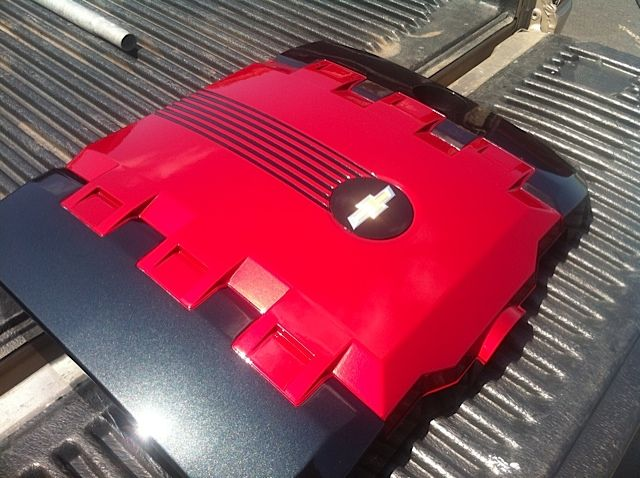 Custom Painted Engine Cover with Lighting Options by River City Creations u0026 Lighting - Camaro5 Chevy & Custom Painted Engine Cover with Lighting Options by River City ... azcodes.com