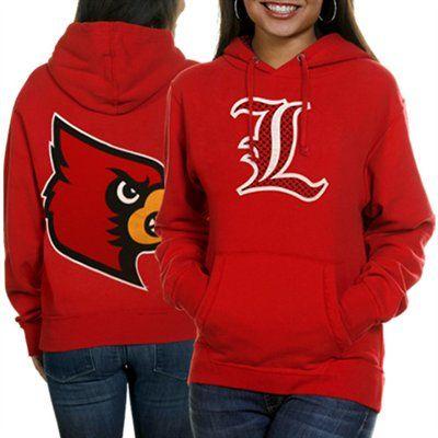 2ec2e3bc6ec Louisville Cardinals Ladies Red Elizabeth Pullover Hoodie Sweatshirt   Fanatics ®  FanaticsWishList