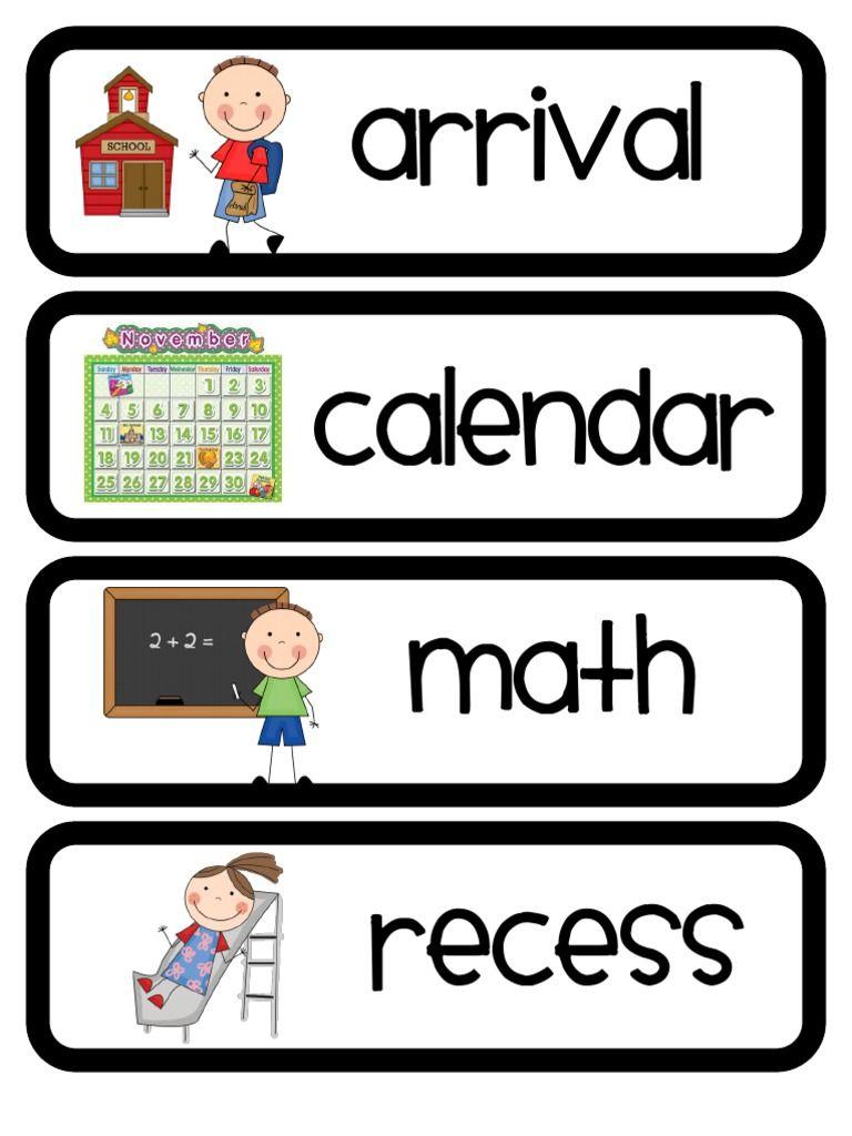 Free Printable Preschool Daily Schedule