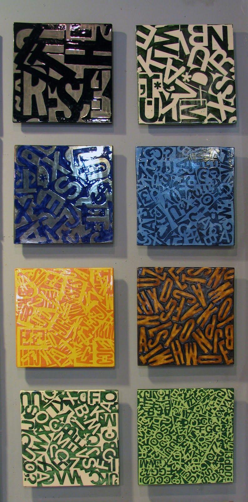 Letterfields Ceramic Tile Mural Wall Art By Jasonmessingerart