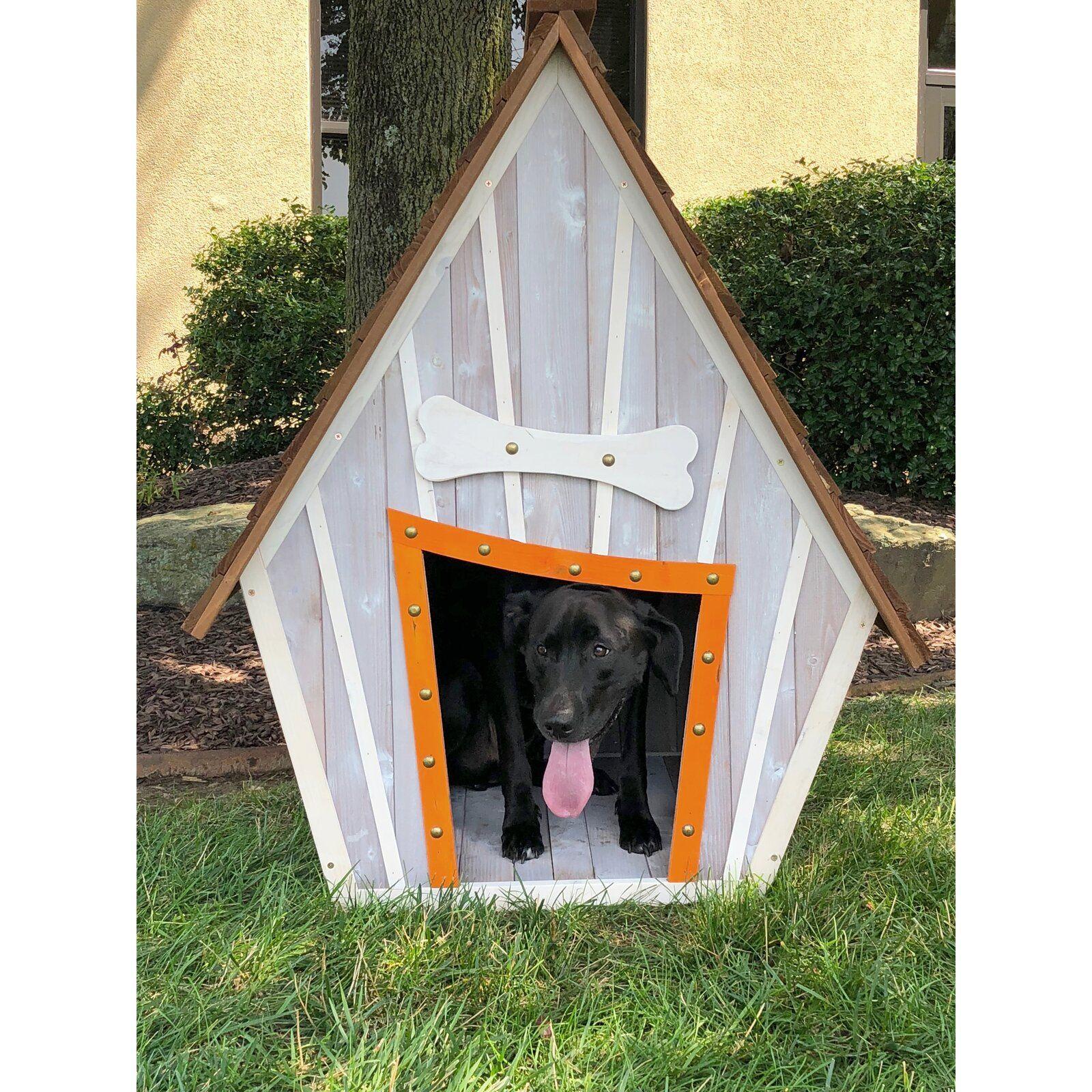 Tucker Murphy Pet Bollman Crooked Wooden Dog House Wayfair