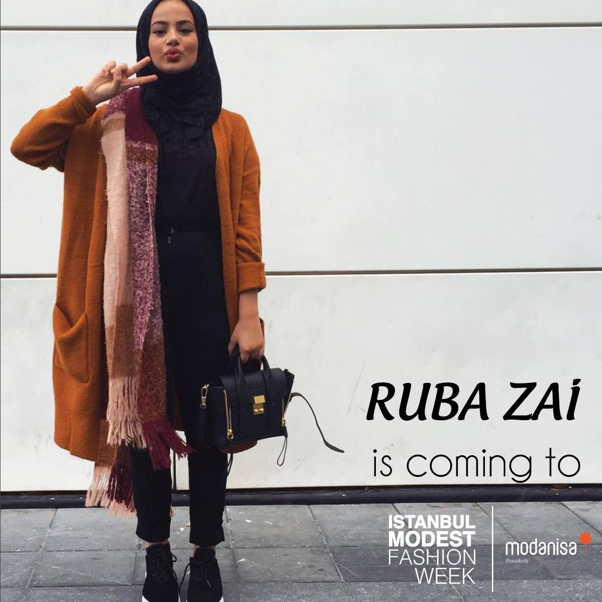 Famous fashion blogger - Famous Fashion Blogger Ruba Zai Will Be At Istanbul Modest Fashion Week You Can Follow