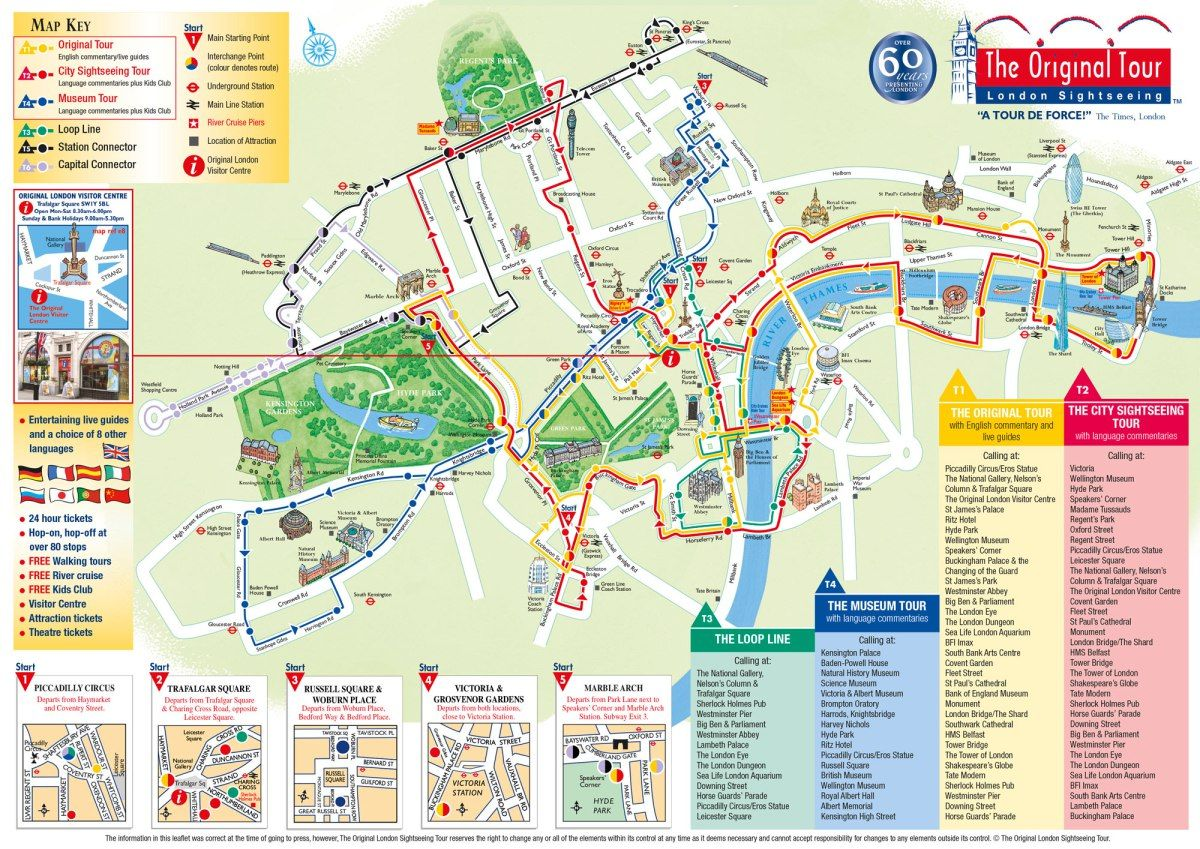THE BEST TOURIST MAPS IN EUROPE Tourist Map - London map in europe