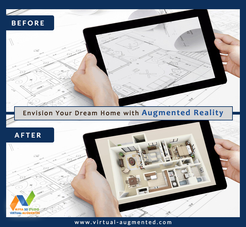 Envision your dream home with Augmented Reality. We are leading augmented reality developers, brings the digital and physical world together so you have a better way of visualizing your dream home. #AugmentedReality #AugmentedRealityDeveloper #VirtualAugmented