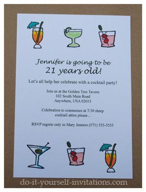 Make DIY 21st Birthday Invitations