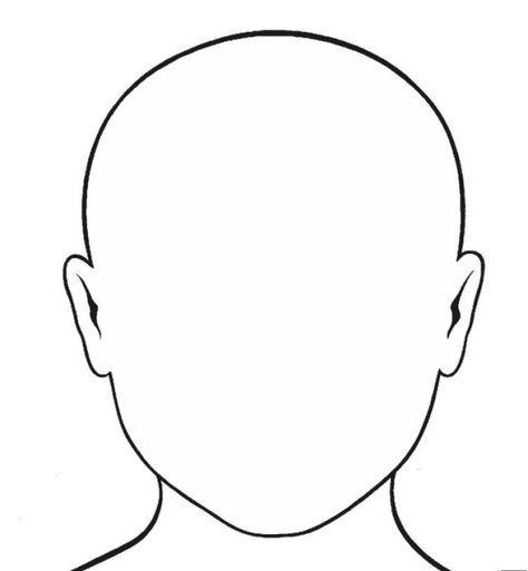 Ausmalbild Gesicht Junge - Cartoon-Bild