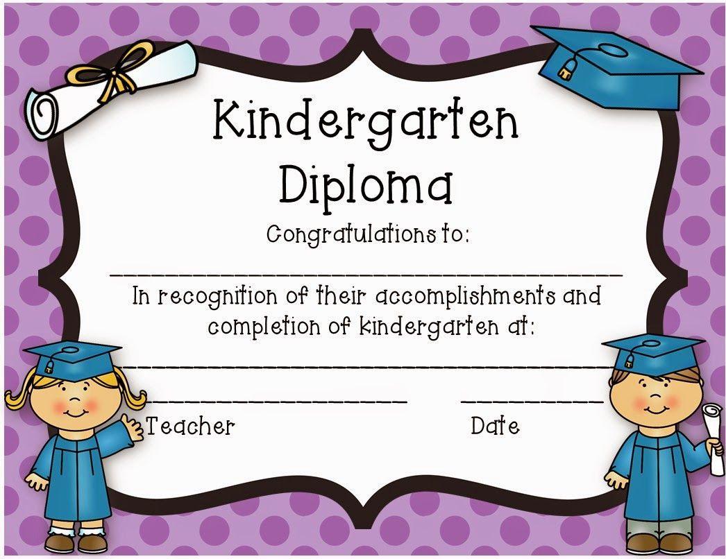 Kindergarten Diploma Freebie Kindergarten Graduation