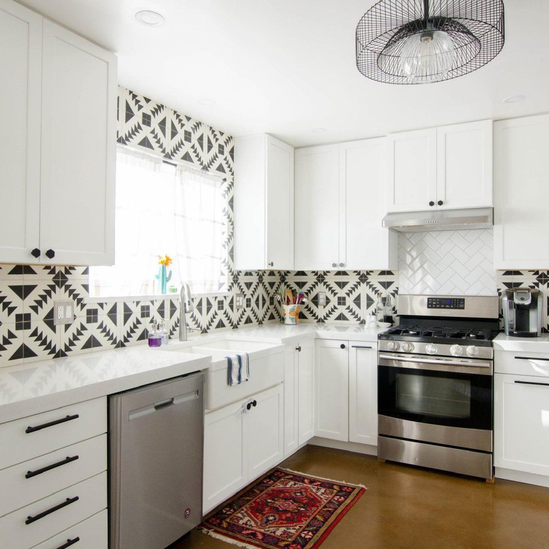 Cement Tile Shop Tulum® Pattern Black and white for the