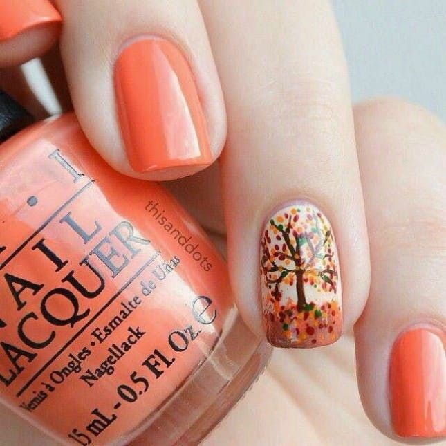 15 Thanksgiving Nail Art Designs You Can Wear All Fall Long via Brit Co - 26 Thanksgiving Nail Art Design Ideas You Can Wear All Fall Long