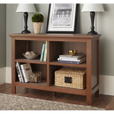 10 Spring Street Burlington Collection Horizontal Bookcase Multiple Colors Walmart Com Horizontal Bookcase Bookcase Office Furniture Accessories