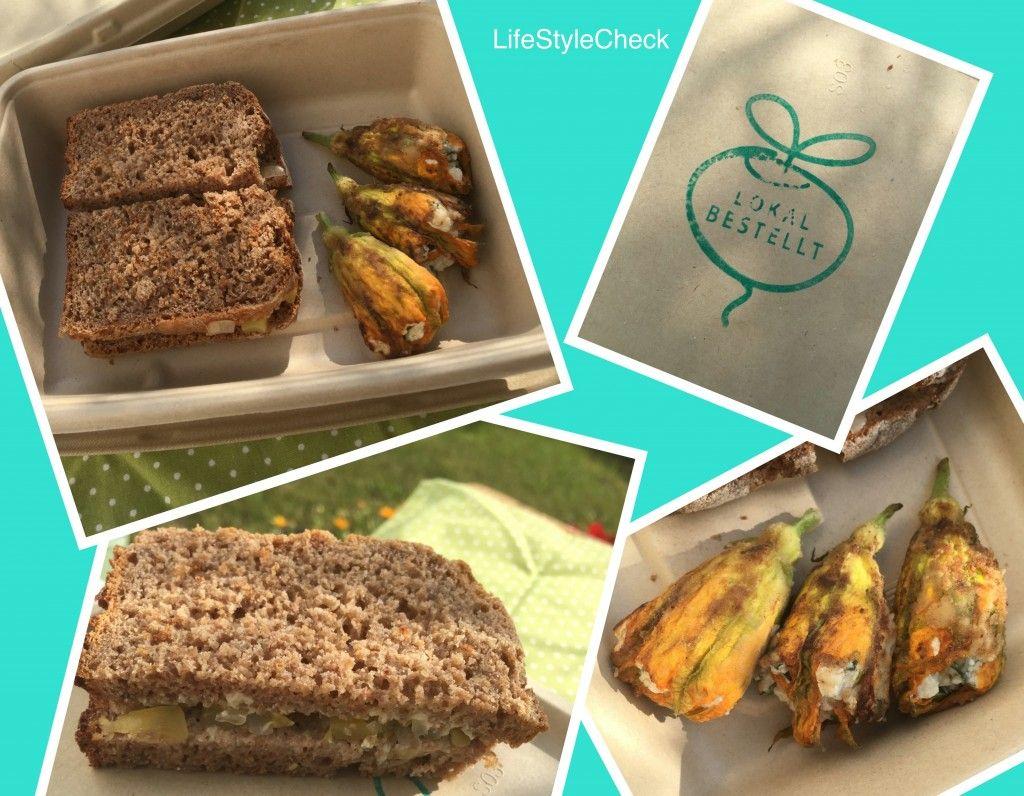 Lokalbestellt - Sauerteigbrot mit Zucchini Chutney und gefüllte Zucchiniblüten mit Büffelricotta - Life-Style-CheckLife-Style-Check