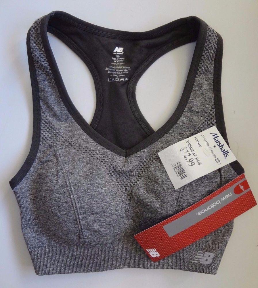 31575dd260550 New Balance Women's XS Gray Sports Bra NWT Made In China  Nylon/Polyester/Spandex #NewBalance