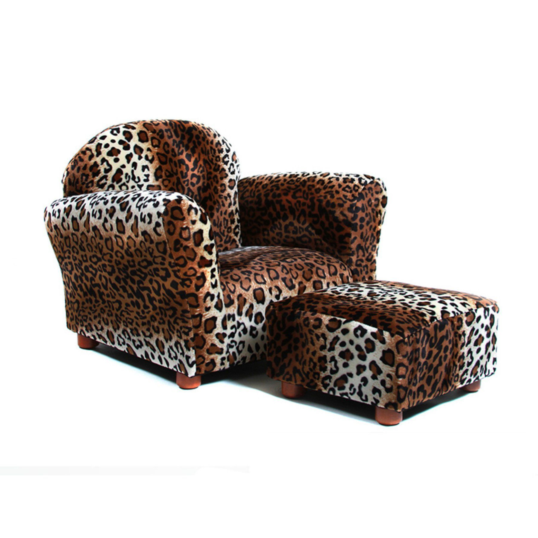 Kids Chair With Ottoman Black Panther Throne Keet Roundy Leopard Cr22 Products