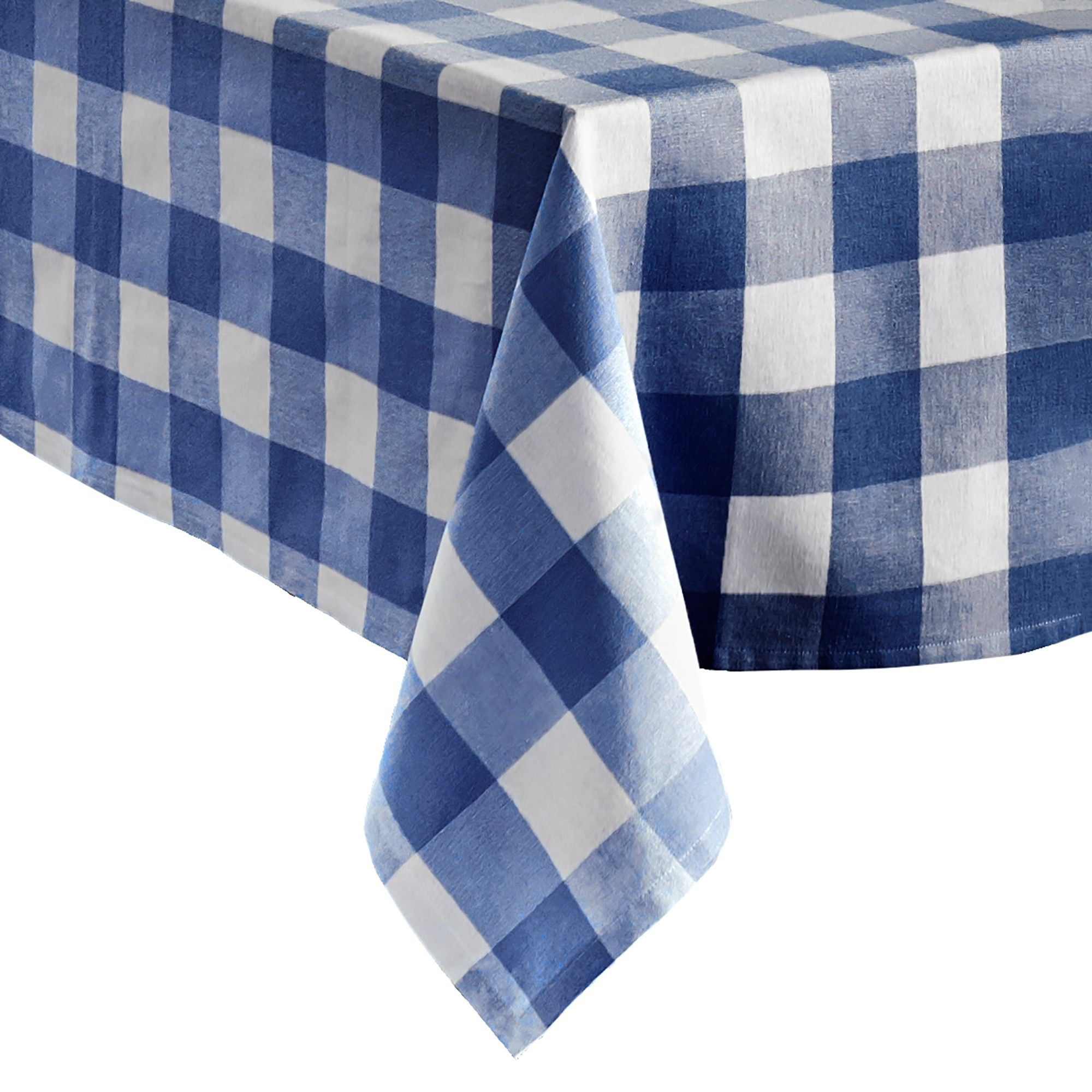 Farmhouse Living Buffalo Check Tablecloth Collection 60 X 120 Blue White Elrene Home Fashions In 2020 Elrene Home Fashions Buffalo Check Tablecloth Design Imports