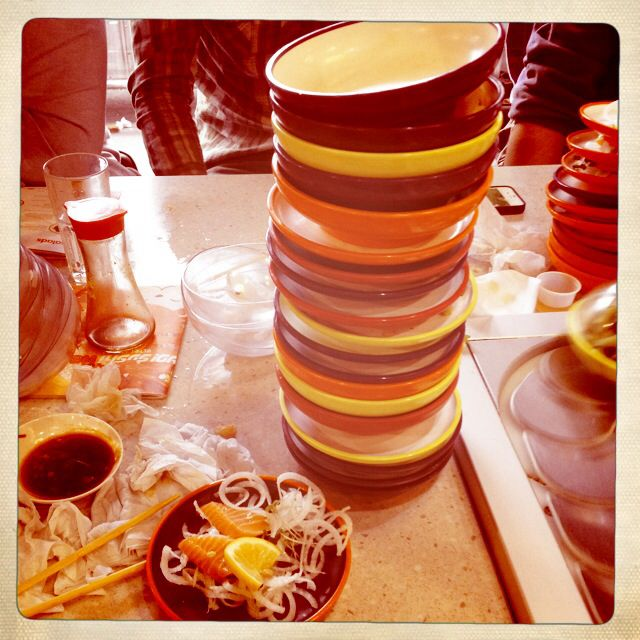 Sushi... No problem. 21 plates in 1 hour