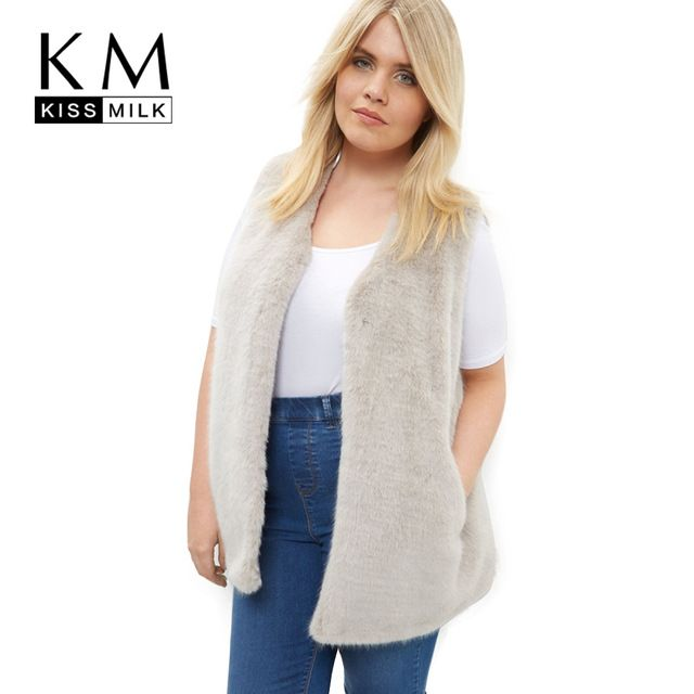 64f8d6c6189 Good price Kissmilk Plus Size New Fashion Women Clothing Casual Solid  Streetwear Outwear O-Neck